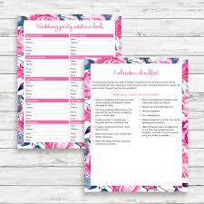 wedding checklist book flower wedding binder printable wedding checklist wedding