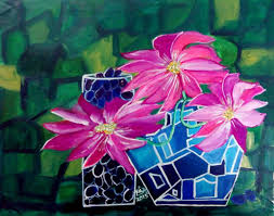 cubism flower painting saatchi the jar of purple grapes cubism painting by rizwana a