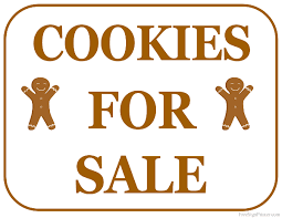 printable cookies for sale sign