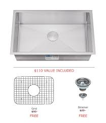 kitchen sink and faucet combo allora usa kh 2718 kitchen sink 27