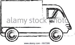 cargo truck sketch icon stock vector art u0026 illustration vector