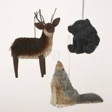 buri woodland animal hanging ornament