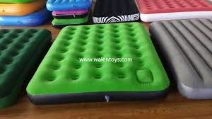 flocked pvc air bed intex classic downy bed air mattress airbed
