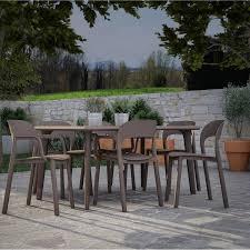 Table Et Chaises De Jardin Leroy Merlin by Salon De Jardin Dessa Brun Marron 6 Personnes Leroy Merlin