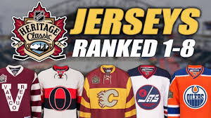 heritage uniforms and jerseys heritage classic jerseys ranked 1 8 youtube
