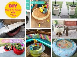 7 unique ways to recycle old tires into something amazing