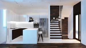 Contemporary Walnut Kitchen Cabinets - kitchen amazing contemporary black with wall loversiq