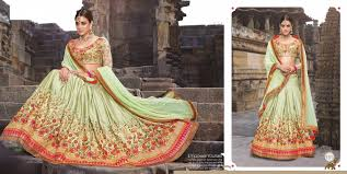 wonderful pista green lehenga choli