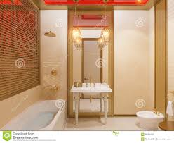 3d illustration islamic style interior design stock illustration