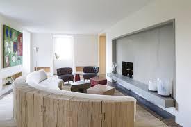 canapé demi cercle grand salon avec canapé en arc de cercle loft ideas