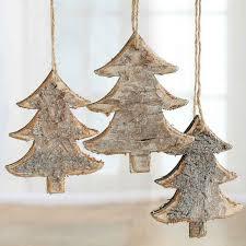 rustic birch tree ornaments ornaments and