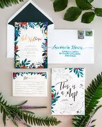 tropical wedding invitations tropical garden copper foil wedding invitations tropical