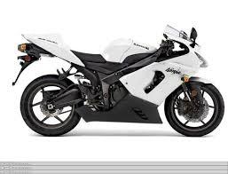 2005 2006 kawasaki zx6r pearl white motorcycle fairing kit