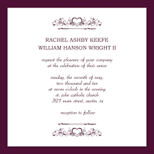 Example Of Wedding Programs Free Samples Of Wedding Invitation Cards Justsingit Com