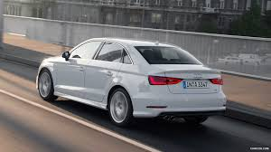 white audi sedan 2015 audi a3 sedan glacier white rear hd wallpaper 11