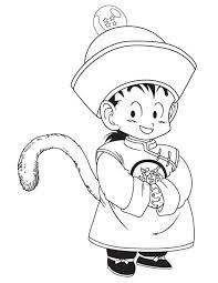 printable 52 dragon ball z coloring pages 5419 little gohan in