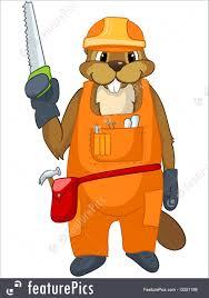 illustration of beaver cartoon