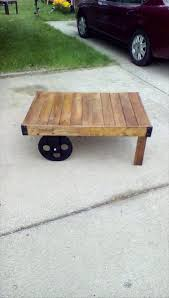Wooden Coffee Table With Wheels by Wood Pallet Coffee Table On Wheels Pallet Furniture