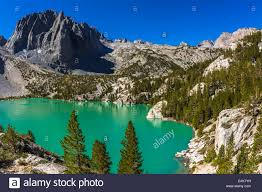 second usa second lake and temple crag muir wilderness california usa