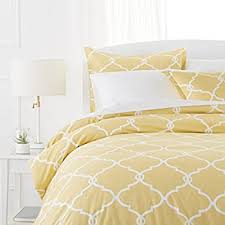 Yellow Duvet Cover King Amazon Com Pinzon Paris Printed Egyptian Cotton Sateen Duvet Set