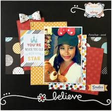 Games Roomcom - monthly scrapbooking layout kit club at the scraproom www scrap