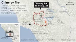 Wildfire Lompoc Ca by California Wildfire Updates Fast Moving Fire In Santa Cruz