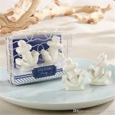 salt and pepper wedding favors dhl 50boxes anchors away ceramic anchor salt and pepper shakers