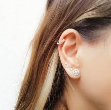 earring helix cz helix earring tiny hoop helix ring silver helix helix
