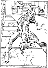 spiderman carnage colouring pages 2