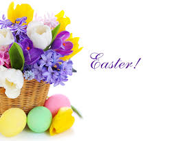 Easter Egg Quotes Image Easter Eggs Tulips Flowers Crocuses Wicker Basket Hyacinths