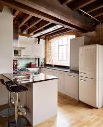 smeg refrigerator kitchen industrial with bar stools breakfast bar