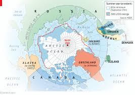 Arctic Ocean Map Awakening