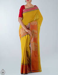 Cot Online Shopping Bangalore Corporate Yellow Pure Uppada Cotton Saree For Online Shopping Unm20856