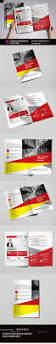 construction company brochure bi fold template brochures