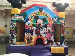 mickey mouse clubhouse bounce house mickey bounce house rental jlapartyrentals new jersey