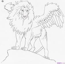 drawing of a lion how to draw teggy the great lion step step