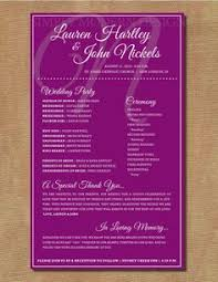 one page wedding program pretty proclamation program wedding planner