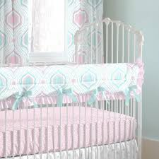 Moroccan Crib Bedding Pink And Aqua Moroccan Damask Crib Bedding Carousel Designs