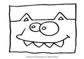 monster colouring pages