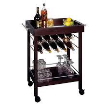 amazon com winsome wood bar cart espresso finish kitchen u0026 dining