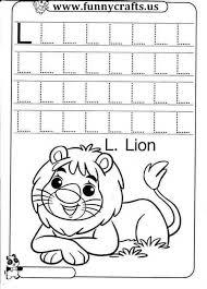 letter l writing practice worksheets funnycrafts