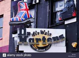 British Flag Boots A Giant Union Jack Dr Martens Boot And Sign Camden High Street