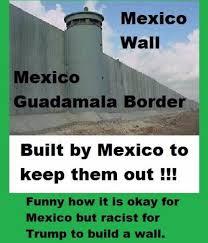 mexico u0027s great wall at border with guatemala