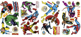 rmk scs marvel classics wall stickers marvel classics wall stickers