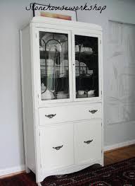white hand painted china cabinet u2013 stone house workshop
