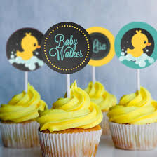 rubber duckie baby shower rubber duck baby shower cupcake toppers for a girl or boy