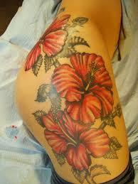 Large Flower Tattoos On - large orange flowers on thigh tattooimages biz