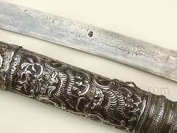 fine silver ottoman yataghan from greece antique ottoman turkish