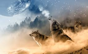 wolf howling at the moon wallpaper hd download for desktop