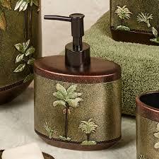 Palm Tree Bathroom Rug Tropical Palm Tree Bath Accessories